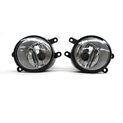 VioGi 2pcs JDM Clear Lens Fog Lights Lamps Kit w/ H11 Halogen Bulbs + Relay + Switch + Wiring Harness Fit Toyota 4Runner Avalon Camry Corolla Highlander Matrix Prius Sienna Solara Tacoma Venza Yaris Rav-4 (Toyota Camry Fog Light Cover 2009 compare prices)