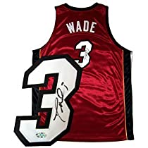 Dwyane Wade Signed / Autographed Jersey Authentic Red Heat Jersey Size (52) Wades Size