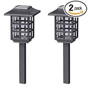 Click to buy Malibu Outdoor Lighting: Malibu Outdoor One-Light Solar-Powered Mission Lights, Black, 2 Pack from Amazon!