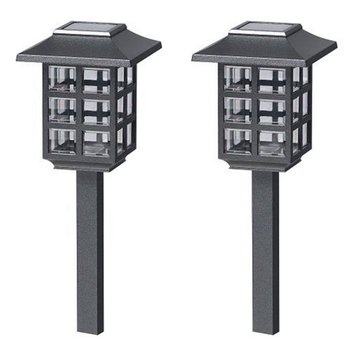 Buy Malibu Outdoor One-Light Solar-Powered Mission Lights, Black, 2-Pack #LZ603-2