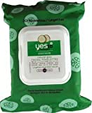 YES to Cucumbers Soothing Natural Glow Facial Towelettes (30 Towelettes Normal to Dry Skin Paraben Free)