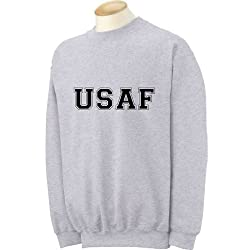 USAF Air Force Crewneck Sweatshirt in Gray