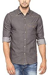 SPYKAR Men Cotton Grey Casual Shirt (XX-Large)