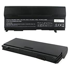 Toshiba M45-S169 & M45-S169x) Laptop Battery, Li-Ion 10.8V 8800