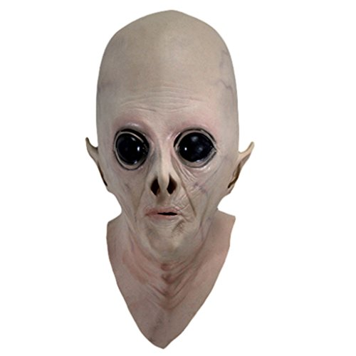V-EWIGE Alien Ufo Ghost Mask Avatar Beauty Blue Cartoon Alien Blood Headgear Bar Haunted Cosplay (Avatar Masks)