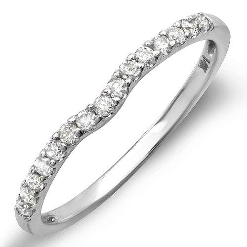 0.25 Carat (ctw) 14K White Gold Round White Diamond
