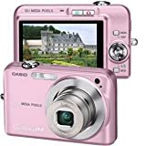 Casio Exilim EX-Z1080 10MP Digital Camera with 3x Anti-Shake Optical Zoom (Pink)