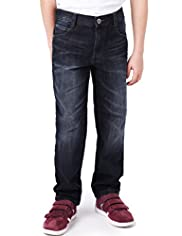 Pure Cotton Shorter Leg Denim Jeans