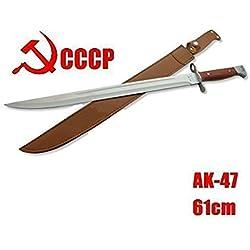 gigantisches 60cm großes russisches AK 47 CCCP (AK47) Bajonett - Kampfmesser - Saufänger - Hirschfänger - Saufeder - Jagdmesser - brutales Teil - 100% Handmade
