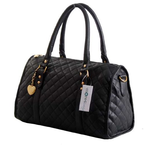 More4bagz Ladies Womens Designer Style Quilted Boutique Shoulder Handbag Bag