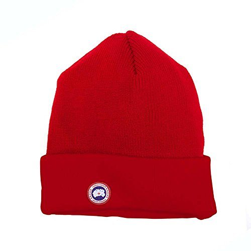 Canada Goose Men's Merino Wool Watch Cap (One Size, Red) (Canada Goose Merino Wool Hat compare prices)