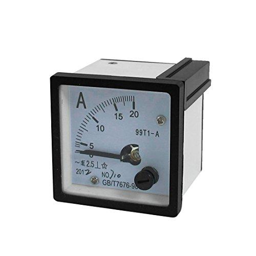 AC 0-20A Stromtester Analog Panel Meter Ampere Weiß Schwarz