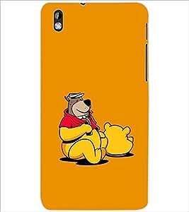 PrintDhaba BALLU D-6423 Back Case Cover for HTC DESIRE 816 (Multi-Coloured)