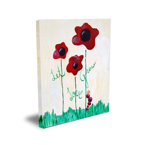 Cici Art Factory Wall Art, Let Love Grow, Medium