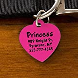 Engraved Pet ID Tags - Heart