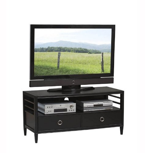 Cheap East End Avenue 50″ TV Stand in Black and Chrome (K77507BLK)