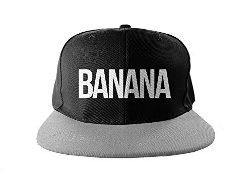 Banana Cool Swag Hip Hop Stampa Snapback Berrettopello Berretto Nero Grigio