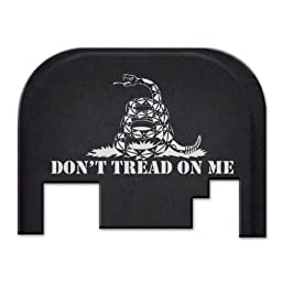 Fixxxer Don\'t Tread on Me, Rear Cover Plate fits most Glocks
