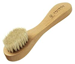 Wooden Facial Brush with Soft Pony Hair Bristle