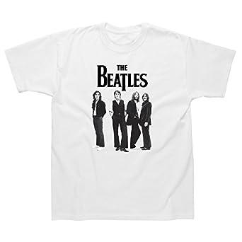 Spike Herren T-Shirt The Beatles, weiß, Gr. S
