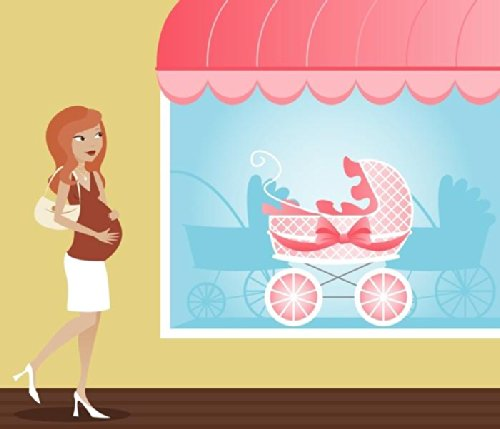 In Studio Wall Decals Stroller Shopping - 30 Inches X 26 Inches - Peel And Stick Removable Graphic