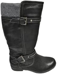 Sporto Ladies Nadia Tall Pull-on Man-made Leather Boot by Sporto