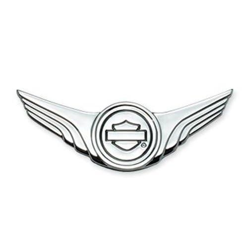 Harley Davidson Bar & Shield w/ Wings Medallion Chrome