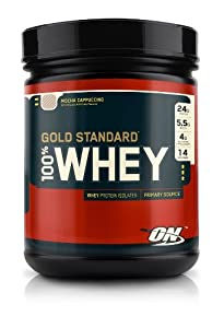 Optimum Nutrition 100% Whey Gold Standard, Mocha Cappuccino, 1 Pound