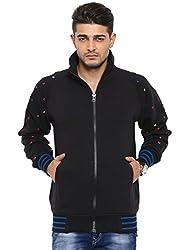 Showoff Men's Full Sleeves Solid Black Casual Sweatshirt