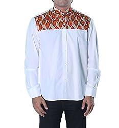 Riverbero Men's Casual Shirt (SN_DFS_232_White_40)