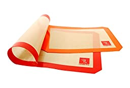 Silicone Bake Mat - Set of 2 - High Quality - 1 mm Thickness - Fits US Standard Pan
