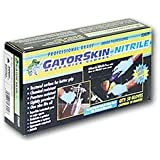 Carrand 23029 Gator Skin Nitrile Gloves, Package of 50