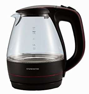 Ovente KG83 Series 1.5L Glass Electric Kettle by Ovente