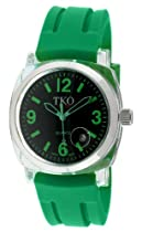 TKO ORLOGI Unisex TK548-GGR Milano Remixed Plastic Case and Green Rubber Strap Watch