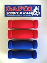 New Replacement Scooter Handle Grips for Razor Scooters - (Multi-Pack) (Blue/Red)