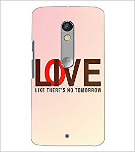 PrintDhaba Quote D-3919 Back Case Cover for MOTOROLA MOTO X PLAY (Multi-Coloured)