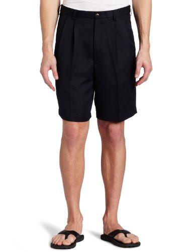 haggar-mens-cool-18-gabardine-hidden-expandable-waist-pleat-front-shortnavy38
