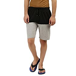 Hotfits black grey graphic summer shorts