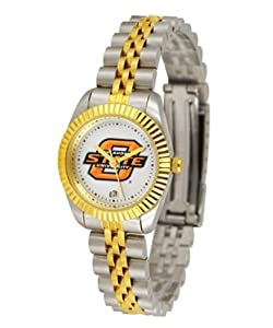 Oklahoma State University Ladies Two-Tone Executive Watch by SunTime
