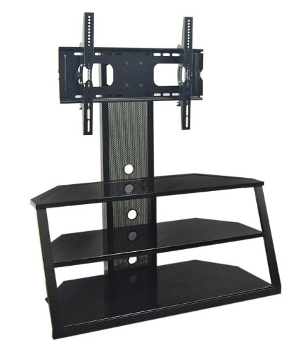 Cheap TV Stand with Removable Mount in Black Finish (V42MT3)