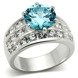 Isady - Iliana - Ladies Ring - 925 Sterling Silver - Cubic Zirconia Blue Aqua Marine