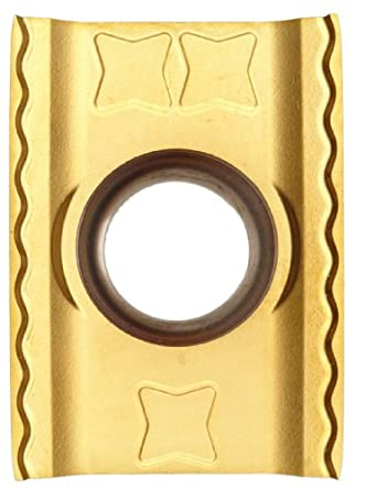 "Sandvik Coromant LONG EDGE CUTTER  Carbide Milling Insert, LDHT Style, Rectangular, GC1025 Grade, TiAlN Coating, LDHT190400ML,0.187"" Thick, 0.008"" Corner Radius (Pack of 10)"