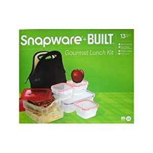 Snapware + Built - Black Lunch Kit