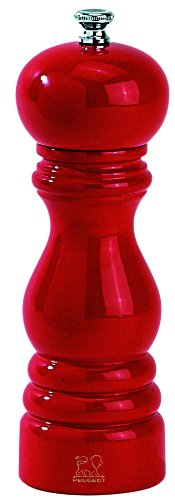 Peugeot 4870418 Paris Classic 7 Inch Pepper Mill, Red Lacquer