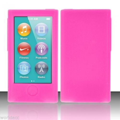 Silicone Rubber Skin Case Cover for iPod Nano 7th Generation-Pink китайский ipod nano 5g