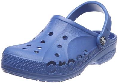Crocs Baya - Zuecos de material sintético unisex, talla 42-43, color azul - Blau (Sea Blue 430)