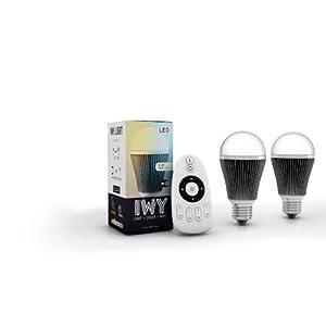 led lampen test iwy 2 x wifi wlan led lampe star wamwei kaltwei regelbar e27 dimmbar 9. Black Bedroom Furniture Sets. Home Design Ideas