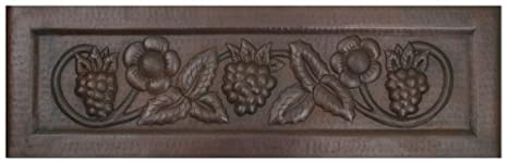 FHA33GFL inch Hammermarc Copper Kitchen Sink Designer Front Grapes & Flowers