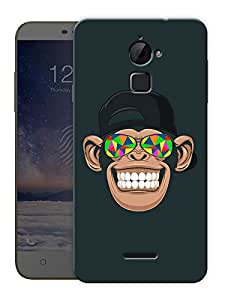 "Chimp Tripping Printed Designer Mobile Back Cover For ""Coolpad Note 3 Lite"" By Humor Gang (3D, Matte Finish, Premium Quality, Protective Snap On Slim Hard Phone Case, Multi Color)"