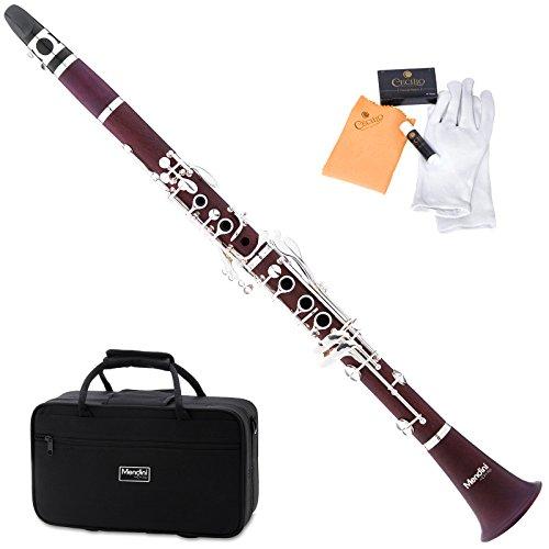 mendini-mct-30-intermediate-solid-rosewood-b-flat-clarinet